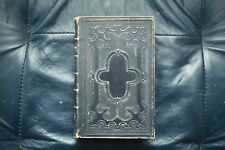 Antique The Holy Bible American Bible Society 1870 AMAZING SHAPE ! Embossed !