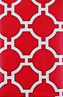 Geometric Link Lattice Design Vinyl Tablecloth w/Zipper Umbrella Hole Var. Sizes