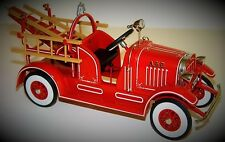 Pedal Car 1930 Ford Ladder Truck Fire Engine Metal Show Red Vintage Midget Model