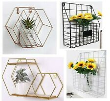 Wire Metal Wall Mounted Storage Basket Letter Magazine Post Rack Organiser Shelf