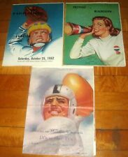 RARE Lot Lee Stange high school football programs Proviso High Maywood Illinois