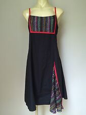 New Massuri Byron Bay Black Cotton Dress Sz M