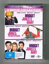 Bridget Jones's Diary / The Edge Of Reason / Bridget Jones's Baby Dvds Brand New