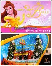 2x DISNEY McDONALD ANIMATION MOVIE BELLE PRINCESS RARE COLLECTIBLE GIFT CARD LOT