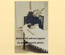 Scary Vintage Creepy Monster Child Scare PHOTO Freak Costume Bedroom Goblin