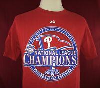Philadelphia Phillies 2008 National League Champions Majestic Red T-Shirt Large