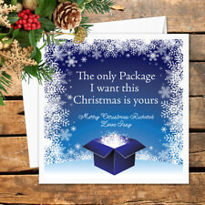 Personalised Christmas Card To Husband Boyfriend Fiancee Rude Funny Sex Adult
