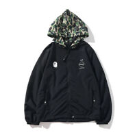 2019 Bape A Bathing Ape Camo Men's Coat JacketThin Full Zip Hooded Windbreaker