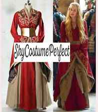 FREE SHIP Cersei Lannister Game of Thrones Dress RED Women FREE SHIP Medeival