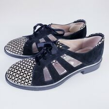 BeautiFeel Women's Clear Panel Suede Lace-Up Shoes Size 40 EU / 10 US