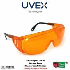 Uvex Ultra-spec 2000 Wrap-around Safety Glasses, Orange Frame #S0360X