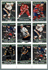 1993-94 OPC Premier BlackGold  Press Proof Panel of 9, Lemieux, Jagr, Bourque..