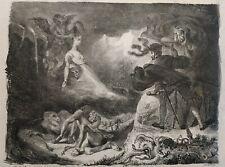 Eugene Delacroix Original lithograph 1828 Goethe's Faust The shadow of Margaret