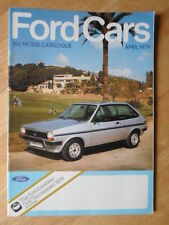 Ford cars 1979/04 prestige sales brochure-fiesta escort cortina capri granada