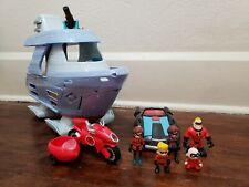 Disney Pixar Incredibles 2 Junior Supers Hydroliner Boat Car Motorcycle Figures