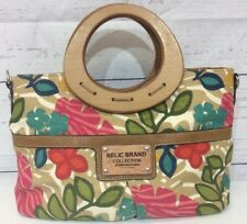 16319a501a25 Relic Brand Collection Floral Purse Handbag With Wooden Handles