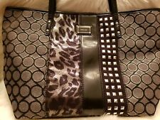 Nine West Multi Pattern Black and Silver Tote