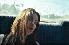CAR PORTRAIT Very Pretty Woman FOUND PHOTO Color Original Snapshot VINTAGE 01 13