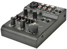 CITRONIC Q-MIX3 USB 2 canali alimentato a batteria compatto MIXER SUONO AUDIO STUDIO