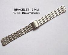 BRACELET MONTRE ACIER INOXYDABLE 12 mm + 2 POMPE D'ATTACHE REF 062124