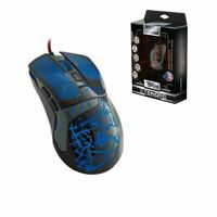 RGS564 3200DPI Wired Optical Mice Adjustable Gaming Mouse Laptop PC Grey Blue