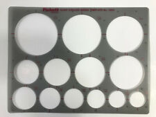 Pickett Template Giant Circles  Inking Template No. 1201i Drafting Supplies