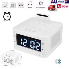 Radio Dock Alarm Clock Bluetooth Docking Station Speaker For iPhone Samsung TF
