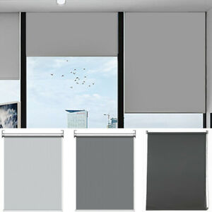 100% Blackout Roller Window Blinds Waterproof UV Protect Fabric Trimmable Blind