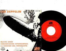 LED Zeppelin Ep Ps Todo Lotta Love México Gamma Buen Estado Raro Mexicano