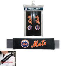 Brand New MLB New York Mets Car Truck Seat Belt Shoulder Pads Covers 2pc Set