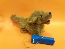 VINTAGE BATTERY OPERATED REMOTE CONTROL  DOG TOY MOHAIR