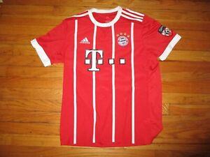 Red BAYERN MUNICH #4 Soccer Jersey Large By Adidas Football MUNCHEN