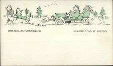 Boston Ma Imperial Automobile Co Pigs Driving Car Car Industry c1905 Postcard