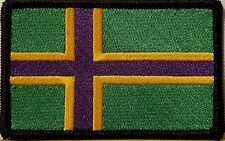 VINLAND Flag Patch With VELCRO® Brand Fastener Tactical BLACK Border VERSION II