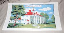 New listing Vintage Tea Towel Home of Washington Mt Vernon Va Linen Kitchen 29� x 16�
