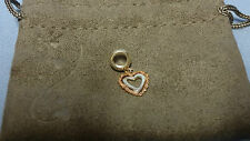 Welsh Clogau Silver & Rose Gold One Bead Charm RRP £89