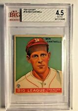 1933 GOUDEY #139 Ben Cantwell RC BVG 4.5 VG-EX+ Boston Braves PSA Fresh Graded 2