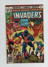 Invaders #20 - Union Jack & Spitfire Cover - (Grade 6.0) 1977