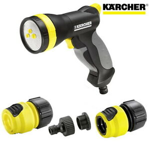 Karcher UNIVERSAL Multi Garden Water Spray Gun Set For All Garden Tap Pipe Hoses