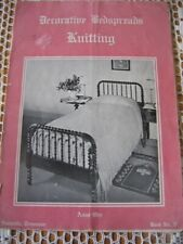 Vintage Decorative Bedspreads Knitting Patterns + Edgings & Insertions 1936