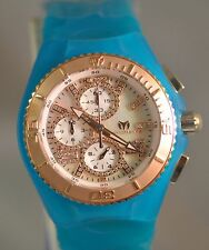 New Womens Technomarine 115281 Jellyfish Diamond Chrono MOP Dial Silicone Watch