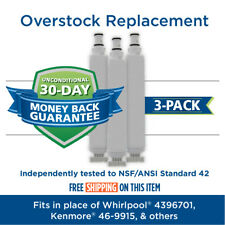 Fits Whirlpool 4396701 EDR6D1 Filter Comparable Fridge Water Filter 3 Pack
