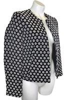 New Banana Republic Blazer Jacket Size 2 XS Extra Small Cotton Black Lined NWT