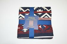 New Polo Ralph Lauren Big Pony Red Blue Southwest Beacon Throw Blanket 50 x 70