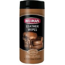 """Weiman Leather Wipes Furniture Shoes Cleaner Polish - 30 wipes 7"""" x 8"""""""
