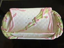 Vintage asperge serveert plaat  en bijpassende schotel