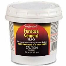 Imperial Manufacturing KK0077-A Black Furnace Cement 8oz Bonds And Seals *