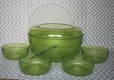 Tupperware Acrylic Preludio Serving Bowls Set Sheer Green New!!!!