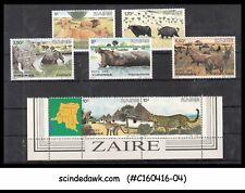 Zaire - 1982 Wild Animals Scott#1078-1084 - 7V - Mint Nh