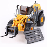 Diecast Forklift Wheel Loader 1:50 Scale Heavy Construction Vehicle Hobby Model